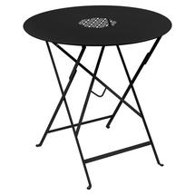 Lorette Folding 77cm Round Table - Liquorice