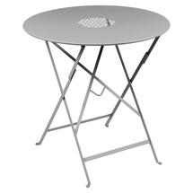 Lorette Folding 77cm Round Table - Steel Grey