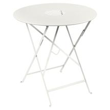 Lorette Folding 77cm Round Table - Clay Grey