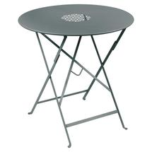 Lorette Folding 77cm Round Table - Storm Grey