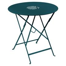 Lorette Folding 77cm Round Table - Acapulco Blue