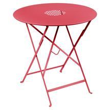Lorette Folding 77cm Round Table - Pink Praline