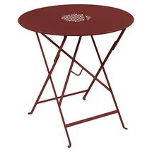 Lorette Folding 77cm Round Table - Chilli