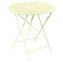 Lorette Folding 77cm Round Table - Frosted Lemon