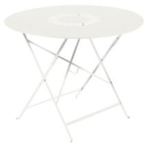 Lorette Folding 96cm Round Table - Clay Grey