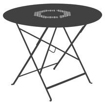 Lorette Folding 96cm Round Table - Anthracite