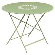 Lorette Folding 96cm Round Table - Willow Green