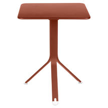 Rest'o 71 x 71 Square Table - Red Ochre