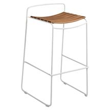Surprising Teak Bar Stool - Cotton White