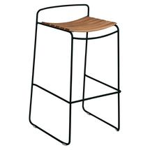 Surprising Teak Bar Stool - Liquorice