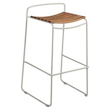 Surprising Teak Bar Stool - Clay Grey