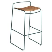 Surprising Teak Bar Stool - Storm Grey