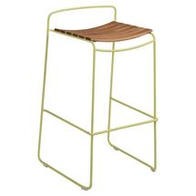 Surprising Teak Bar Stool - Willow Green