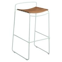 Surprising Teak Bar Stool - Ice Mint