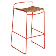 Surprising Teak Bar Stool - Capucine