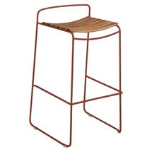 Surprising Teak Bar Stool - Red Ochre