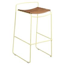 Surprising Teak Bar Stool - Frosted Lemon