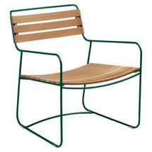Surprising Teak Low Armchair - Cedar Green