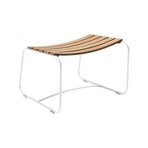 Surprising Teak Footrest - Cotton White