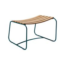 Surprising Teak Footrest - Acapulco Blue
