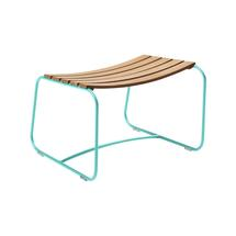 Surprising Teak Footrest - Lagoon Blue