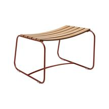 Surprising Teak Footrest - Red Ochre