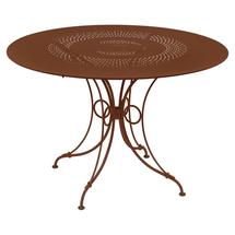 1900 Round Table 117cm  - Red Ochre