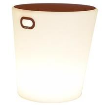 Inouï LED Illuminated Stool - Red Ochre