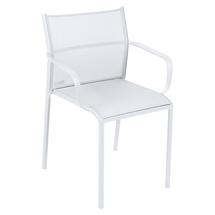 Cadiz Dining Chair with Arms - Cotton White