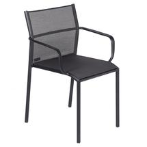 Cadiz Dining Chair with Arms - Stereo Anthracite