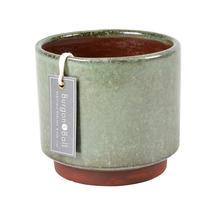 Speckled Glaze Indoor Planter - Medium Green