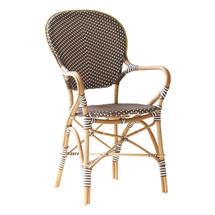 Isabell Cafe Armchair - Cappuccino / White Dot