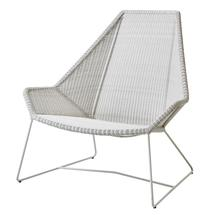 Breeze Highback Chair  - White Grey