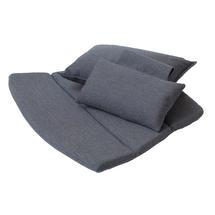 Breeze Highback Chair Cushion Set - Black