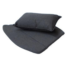Breeze lounge chair cushion set - Black