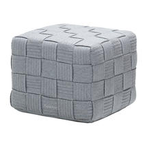 Cube Footstool - Light Grey