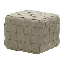 Cube footstool - Taupe