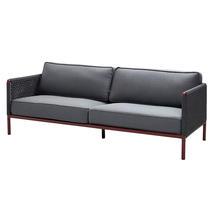 Encore 3-seater sofa - Bordeaux/dark grey