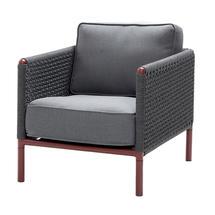 Encore AirTouch Lounge Chair - Bordeaux / Dark Grey
