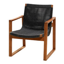 Endless lounge chair - Teak/Dark Grey