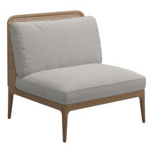 Lima Low Back Centre Unit- Blend Linen