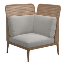 Lima Right High Back Corner / End Unit- Blend Linen