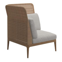 Lima Left High Back Corner / End Unit- Blend Linen