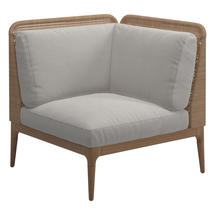 Lima Left Low Back Corner / End Unit- Blend Linen