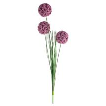Faux Allium Dark Pink Spray