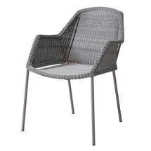 Breeze Stackable Dining Armchair Light Grey - 6 for 5 offer