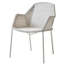 Breeze Stackable Dining Armchair White Grey - 6 for 5 offer