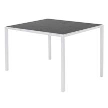 Pure Dining Table 100cm Square White- Nero Top