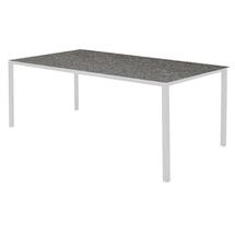 Pure Dining Table 200 x 100cm  White- Basalt Top
