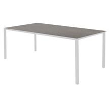Pure Dining Table 200 x 100cm  White - Concrete Grey Top